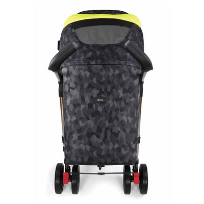 Diono Flexa Luxe Compact Stroller in Black Camo back view