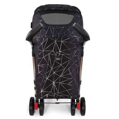 Diono Flexa Luxe Compact Stroller in Black Platinum back view