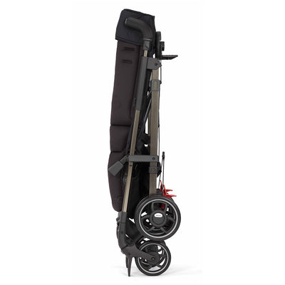 Diono Flexa Luxe Compact Stroller in Black Platinum folded