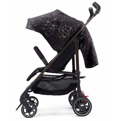 Diono Flexa Luxe Compact Stroller in Black Platinum side view