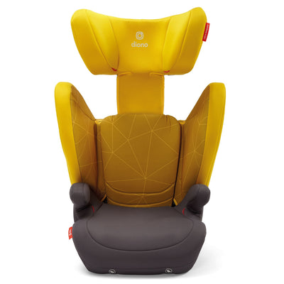 Diono Monterey® 4DXT Booster in Yellow Sulphur with side wings and headrest extended