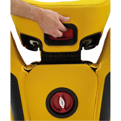 Diono Monterey® 4DXT Booster in Yellow Sulphur back view