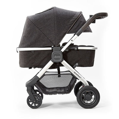 Diono Quantum Classic Stroller in Grey Dark with bassinet