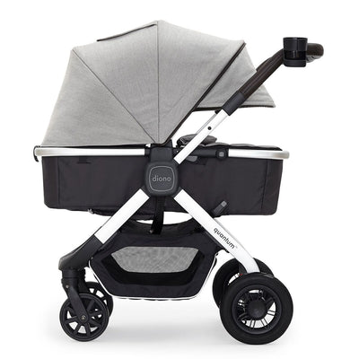 Diono Quantum Classic Stroller in Grey Light with bassinet