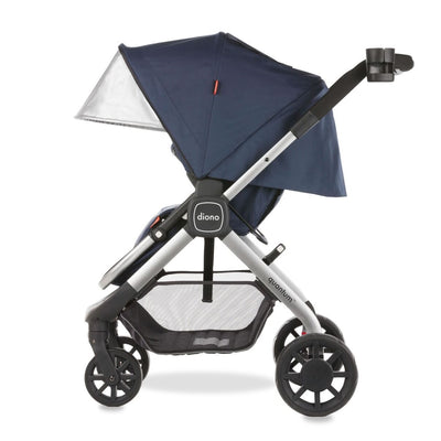 Diono Quantum Stroller in Navy side view