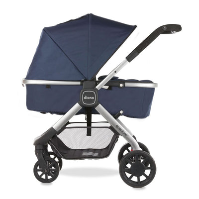 Diono Quantum Stroller in Navy with Bassinet