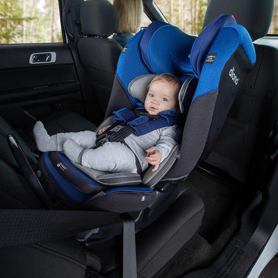 Baby sitting in the Diono Radian® 3QX Latch Ultimate All-in-One Convertible Car Seat