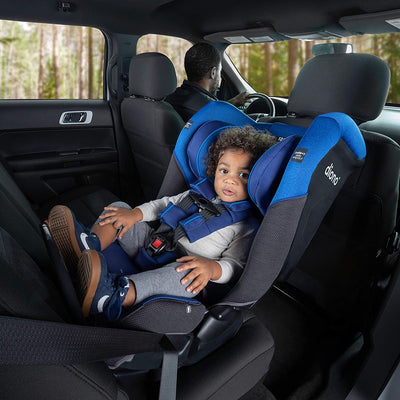 Toddler sitting in the Diono Radian® 3QX Latch Ultimate All-in-One Convertible Car Seat
