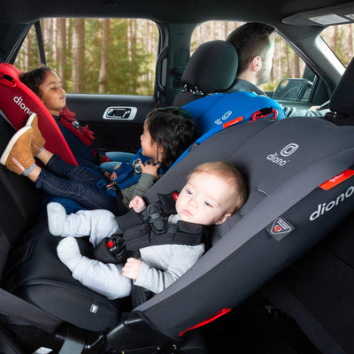 Baby sitting in the Diono Radian® 3R Latch Convertible+Booster Car Seat