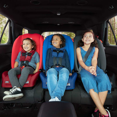 Children sitting in the Diono Radian® 3R Latch Convertible+Booster Car Seat