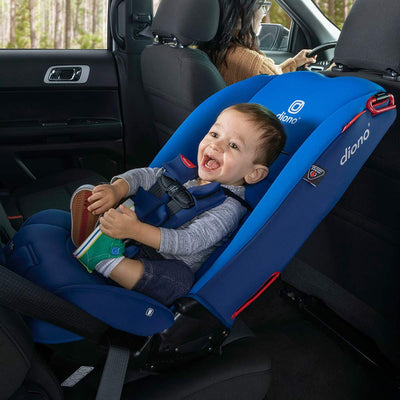 Infant sitting in the Diono Radian® 3RX Latch Convertible+Booster Car Seat