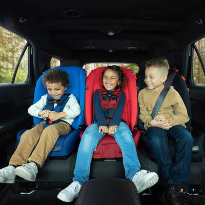 Children sitting in the Diono Radian® 3RX Latch Convertible+Booster Car Seat