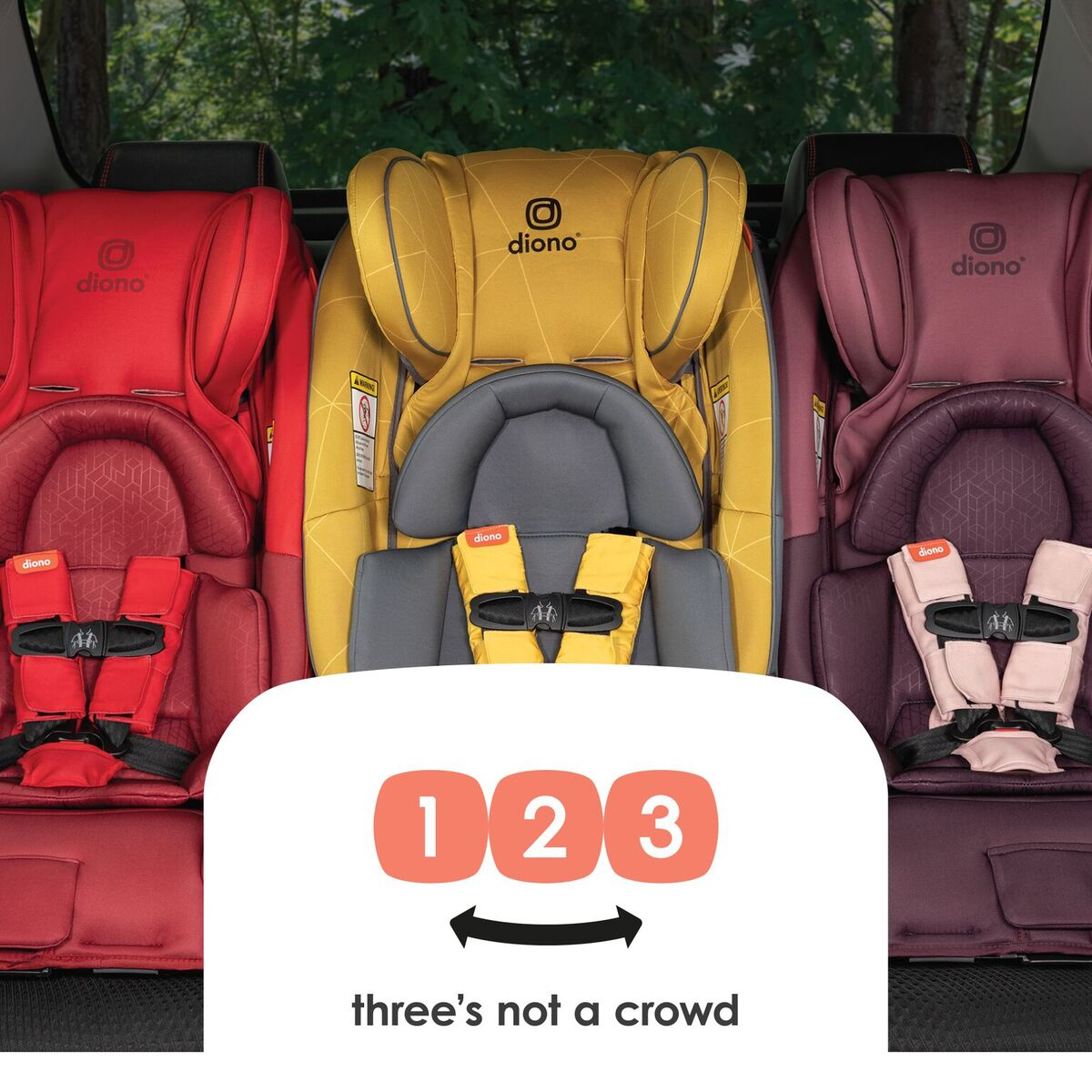 Diono Radian 3 RXT All-in-One Convertible Booster Child Safety Car Seat Yellow