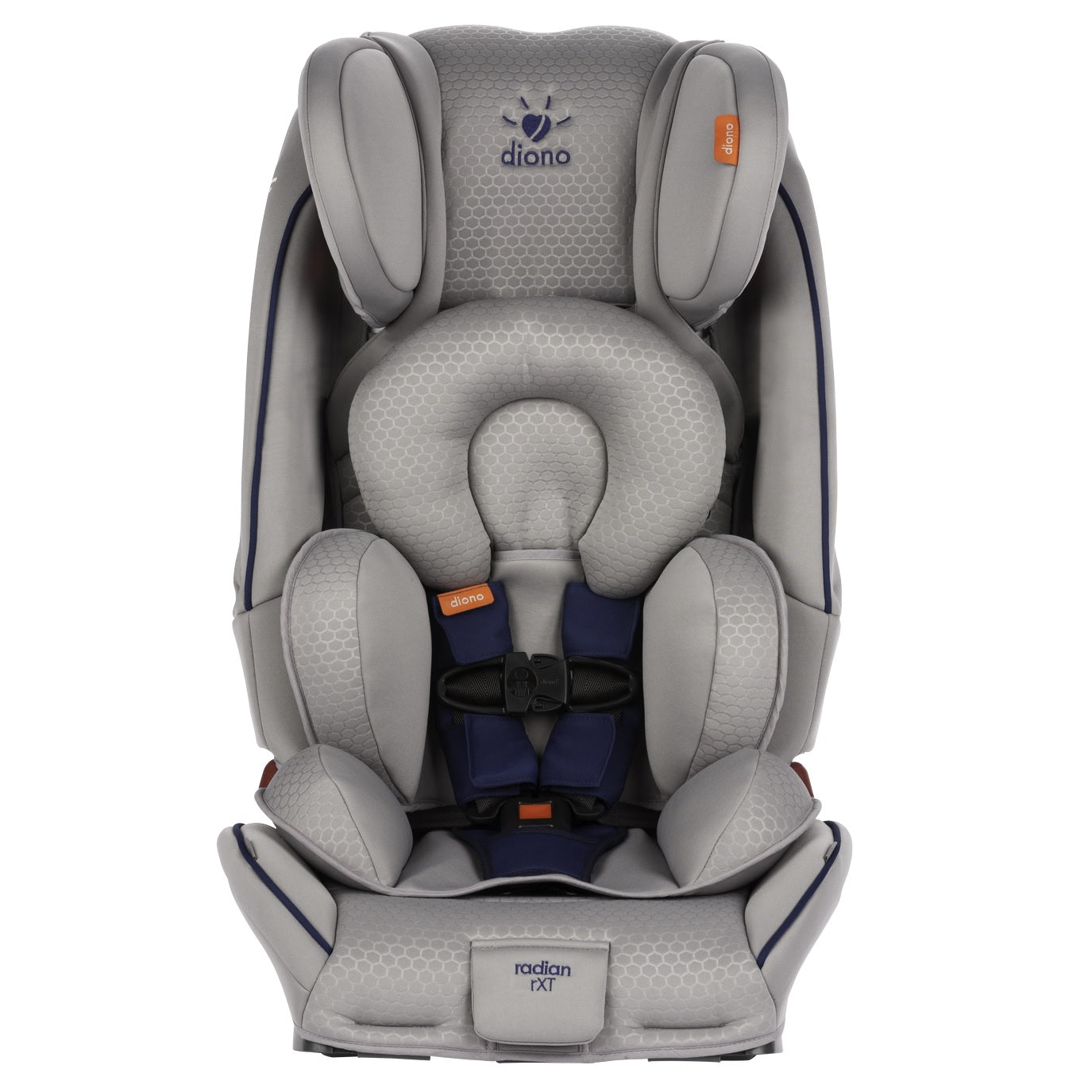 Diono RadianR RXT Just My Color Convertible Booster Car Seat In Silver And Blue