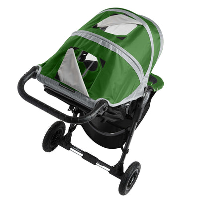 Baby Jogger City Mini® GT Stroller in Evergreen/Gray showing window panel in canopy