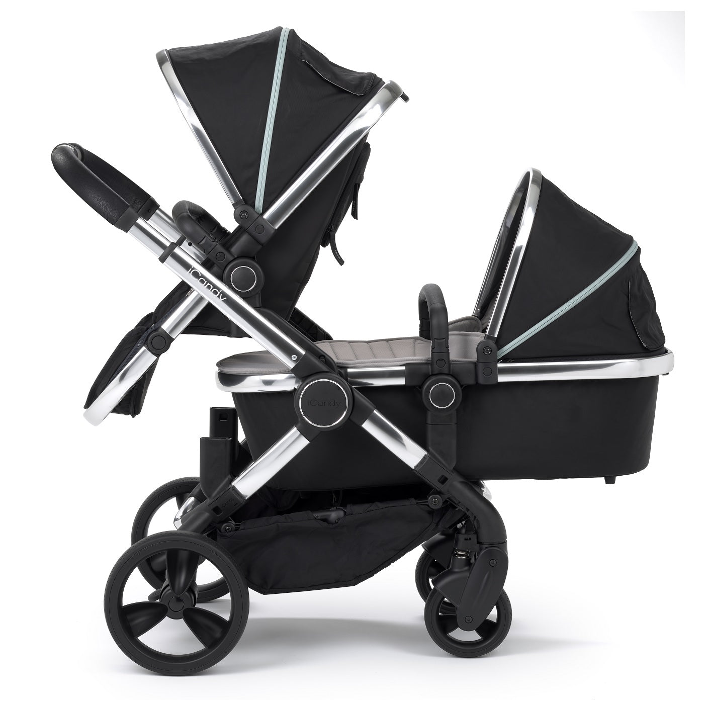 icandy peach double stroller chrome beluga