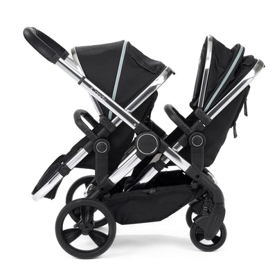 iCandy Peach Blossom Double Stroller in Chrome and Beluga Black