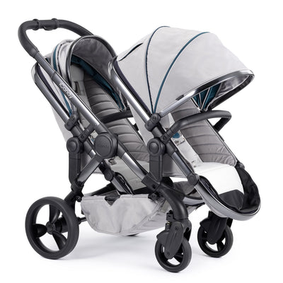 iCandy Peach Blossom Double Stroller in Phantom and Dove Grey