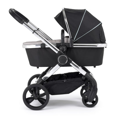 iCandy Peach Stroller in Chrome and Beluga Black