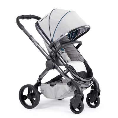 iCandy Peach Stroller in Phantom chassis and Dove Grey fabrics