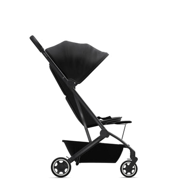 Joolz Aer Leg Rest on the Aer stroller in Refined Black side view
