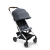 Joolz Aer Lightweight Stroller in Elegant Blue with canopy extended