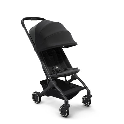 Joolz Aer Lightweight Stroller in Refined Black with canopy extended