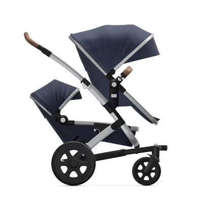 Joolz Geo² Duo/Twin Stroller in Classic Blue side view