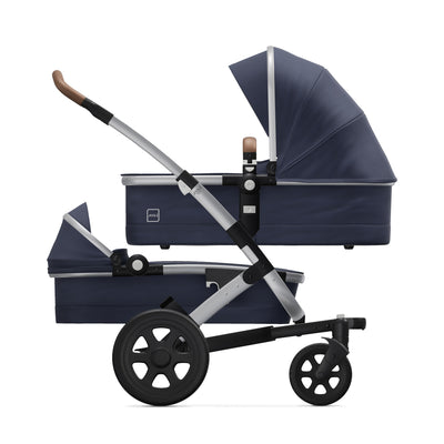 Joolz Geo² Duo/Twin Stroller in Classic Blue with two bassinets