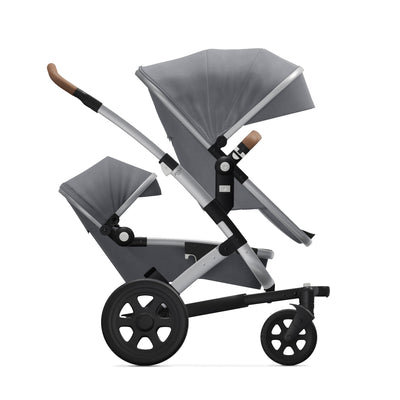 Joolz Geo² Duo/Twin Stroller in Gorgeous Grey side view