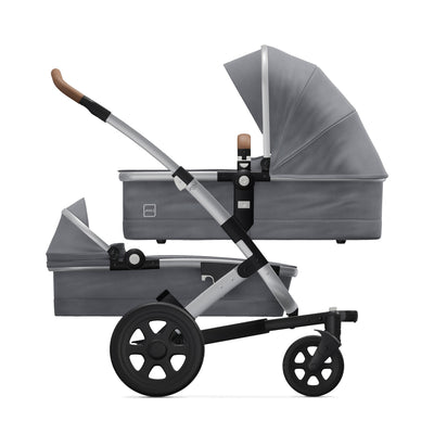 Joolz Geo² Duo/Twin Stroller in Gorgeous Grey with two bassinets