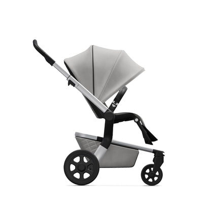 Joolz Hub Stroller in Stunning Silver side view