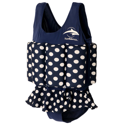 Konfidence Floatsuit in Navy Polka Dot