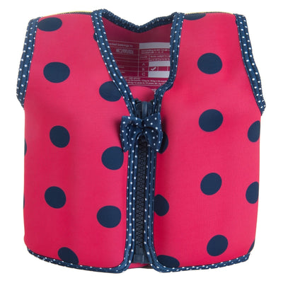 Konfidence Swim Jacket in Ladybird Polka Dot