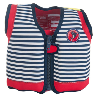 Konfidence Swim Jacket in Navy Stripe