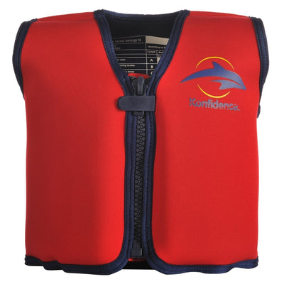 Konfidence Swim Jacket in Red and Yellow