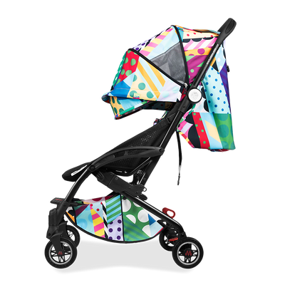 Maclaren Atom Jason Woodside Stroller side view with hood extended