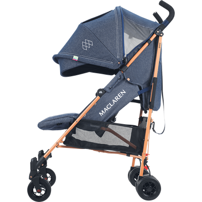 Maclaren 2018 Quest Stroller in Denim Indigo side view