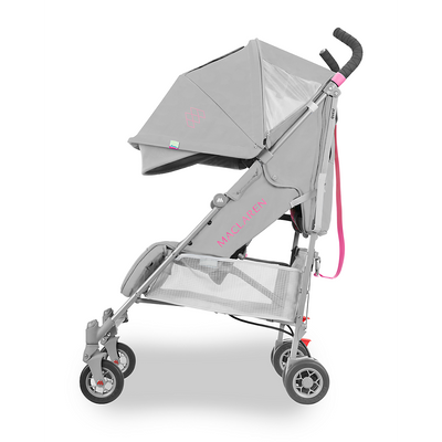Maclaren 2018 Quest Stroller in Dove/Azalea side view