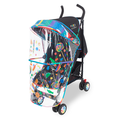 Maclaren Quest Objects of Design Dylan's Candy Bar Stroller with rain cover