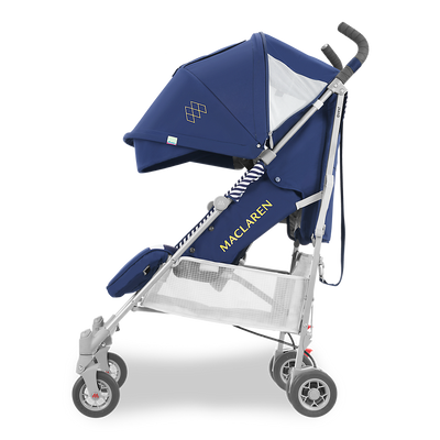 Maclaren 2018 Quest Stroller in Regency Stripe side view