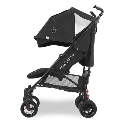 Maclaren 2018 Techno XT Stroller in Black/Black side view