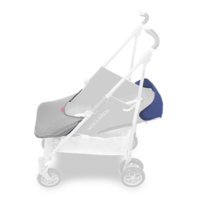 Maclaren 2018 Techno XT Stroller in Medieval Blue/Silver with newborn solution