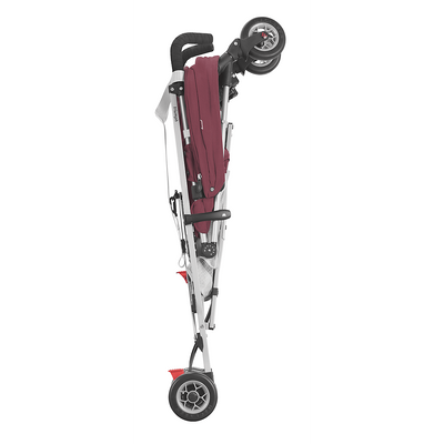 Maclaren 2018 Triumph Stroller in Plum/Grey Dove folded