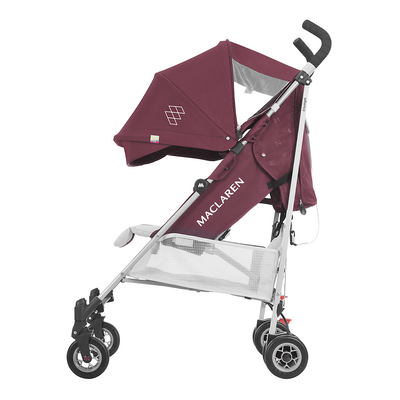 Maclaren 2018 Triumph Stroller in Plum/Grey Dove side view