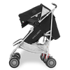 Maclaren Twin Techno Stroller in Black side view