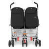 Maclaren Twin Techno Stroller in Black back view