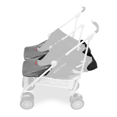 Maclaren Twin Techno Stroller in Black with newborn solution