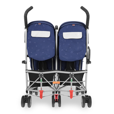 Maclaren Twin Triumph Stroller in Medieval Blue and Silver