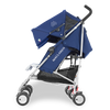 Maclaren Twin Triumph Stroller in Medieval Blue and Silver side view